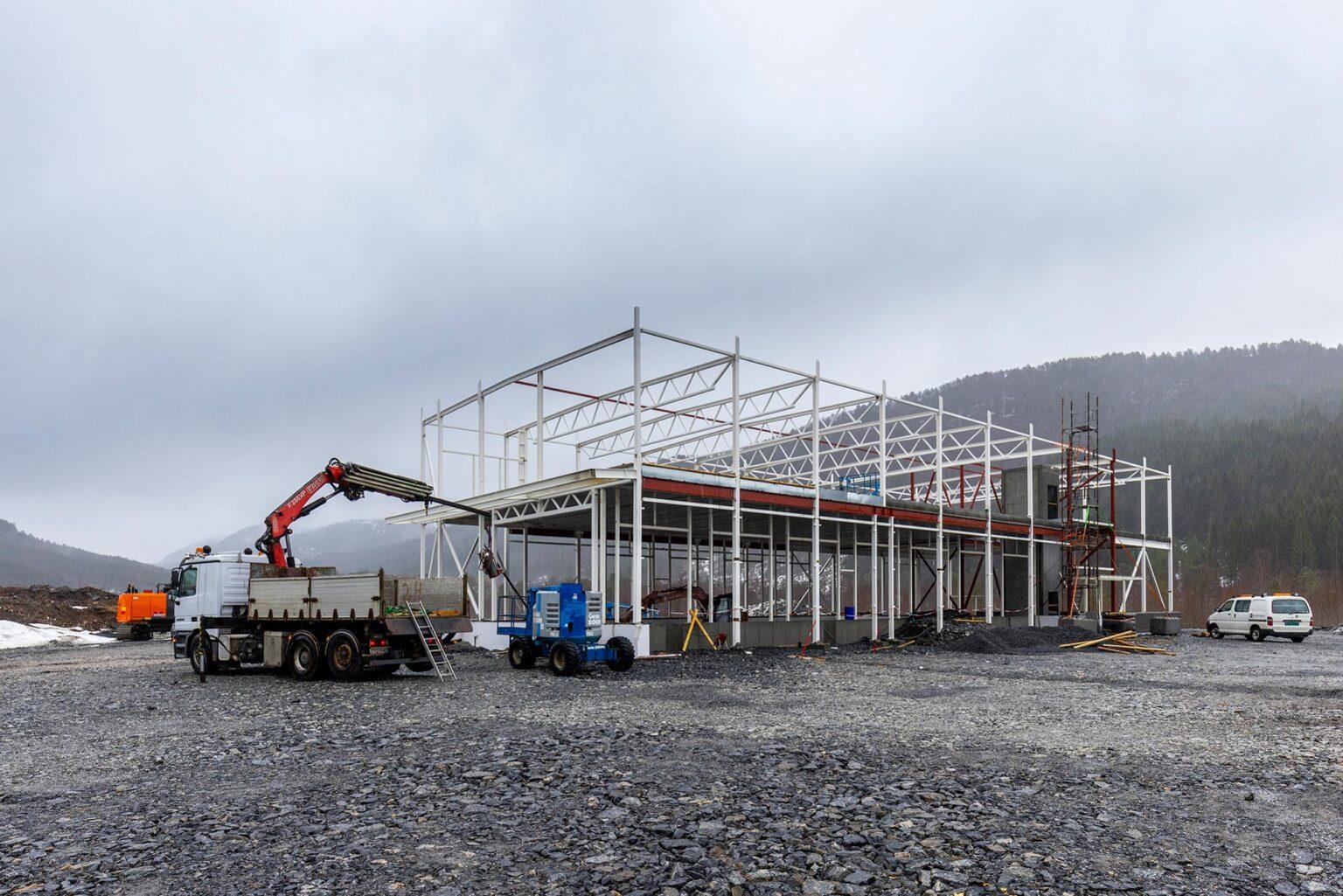 Angvik Grytnes Entreprenør bygger terminalbygg i Årødalen, Molde for VEØY AS.